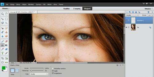 Zmianak koloru oczu Photoshop